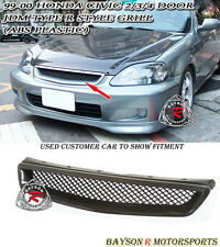 TR-Style Front Grill (ABS) Fits 99-00 Civic