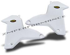 NEW SUZUKI LTR450 LT450R LTR 450 06 - 09 WHITE PLASTIC RADIATOR AIR SCOOPS