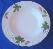 "Mikasa Country Berries dinnerware rimmed soup bowl 9"" DP901 embossed lattice"