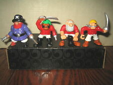 4 RARE HTF FISHER PRICE GREAT ADVENTURES COLLECTABLE PIRATES FIGURES, SOLD AS IS