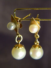 Unique and very Nice Victorian Earing 18 k Gold and Pearl