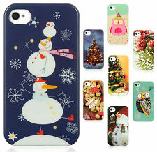 For Apple iPhone 4 4S TPU Candy CHRISTMAS Case Protector Phone Cover Accessory