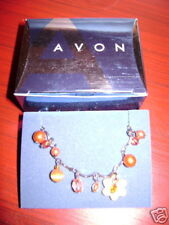 "2005 Avon Dangling Colorful Cats Eye Anklet Orange 8"" end to end"