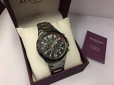 Mens Accurist model no 7086 Stainless Steel Chronograph  watch RRP £139.99,
