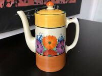 Clarice Cliff Bizarre Coffee Pot In Gay Day Pattern