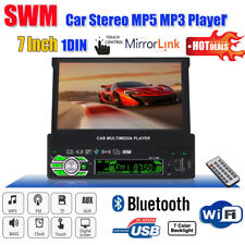 "7"" 1 DIN Bluetooth Car Stereo MP5 MP3 Player FM Radio USB/TF/AUX +Remote Control"