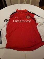 Arsenal Shirt Kanu Match Worn  Champions League Signed!!!