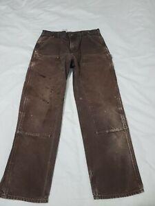 Carhartt B136 DKB Duck Double Knee Distressed Work Pants Mens 34 X 31 - M7025