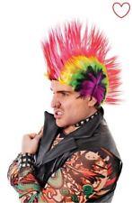 Punk Mohican Mohawk Rocker Wig Fancy Dress