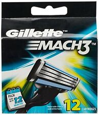 Gillette Mach3 Refill Razor Blade Cartridges - 12 Cartridges