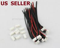 US SHIP 10 PCS 4S1P Balance Charger Cable 22 AWG Silicon Wire JST XH Plug