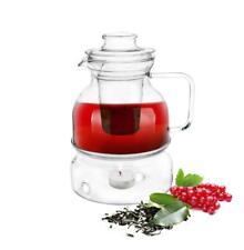 Teekanne mit Stövchen und Teesieb 1,5 LITER Teezubereiter Glaskanne Tee-Kanne