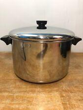 Revere Ware 8 Quart Qt Stainless Steel Dutch Oven Stock Pot