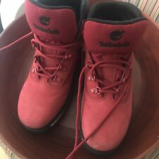 Red Timberland Boots Boys 6