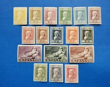 Spain Stamps, Scott 386-402 Mint And Hinged