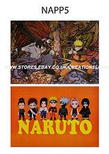 """2 x A3 posters 16.5"""" x 11.5"""" Naruto/Naruto,Gaara,Sasuke,Kakashi,Shikamaru(NAPP5)"""