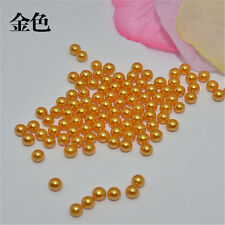 Wholesale 100-1000PCS 6-8mm No Hole Round ABS Pearl Acrylic Beads diy