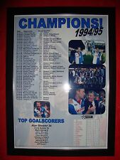 Blackburn Rovers League Champions 1994-95 - framed print