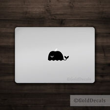 Whale - Mac Apple Logo Laptop Vinyl Decal Sticker Macbook Cute Animal Dolphin
