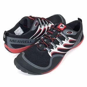 Merrell Trail Glove Barefoot Running Shoes Men's Size 9.5 Black/Molten Lava