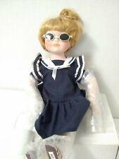 "Royalton Collection Doll Porcelain Doll Sunny Sailor Blue Dress 10"" W/ Sunglass"