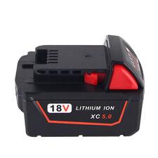 18V 5000mAh 5.0AH Li-ion Battery for MILWAUKEE 48-11-1830/0824-24/V18 Power New