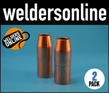 CIGWELD Tweco 21-50 Nozzle 2 Pack - Fit Lincoln Magnum Gun 100L FREE POSTAGE