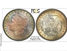 1886 PCGS MS 65 Morgan Dollar Monster Toning & With Tru View Photo Certificate