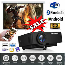 4K Full HD 1080P WIFI Android 6.0.1 Projektor Bluetooth LED Heimkino Beamer HDMI