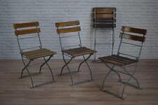 French Heavy Duty Vintage Industrial Style Folding Garden Cafe Bar Bistro Chairs