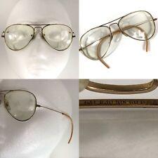 Vintage Aviator Pilot Ray Ban Bausch & Lomb 1/30 10K GO Prescription Eyeglasses
