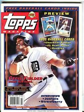 Topps Magazine Winter 1991 Cecil Fielder w/Mint Cards EX 042517nonjhe