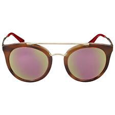 Prada Cat Eye Mirror Yellow Rose Lens Sunglasses