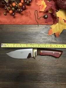 "US Custom Handmade D. Schmidt Fixed Blade Knife! Beautiful Inlay 9 3/4"" Long!"