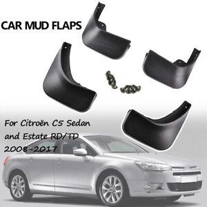 For Citroen C5 2008-2017 Sedan Estate Molded Mud Flaps Splash Guards Mudguards