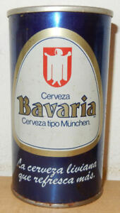 BAVARIA Cerveza Straight Steel Beer can from CHILE (355ml) empty !!