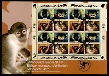 DR WHO 2007 UNITED NATIONS ENDANGERED SPECIES MONKEY S/S FDC LC202782