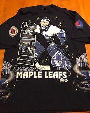 VINTAGE NHL TORONTO MAPLE LEAFS ALL OVER PRINT SHIRT XL