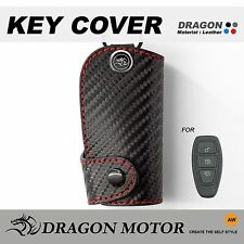 Leather Key fob Holder Case Chain Cover fit For 2m2_Ford KUGA RANGER ST ECOSPORT