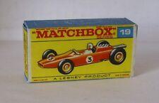 Repro Box Matchbox 1:75 Nr.19 Lotus Racing Car rot