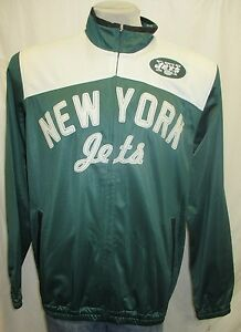 New York Jets Men M, XL Full-Zip Embroidered Track Jacket NFL Green