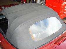 MAZDA mx5 mk3 Nero Vinile Cappuccio/finestra di vetro soft-top