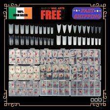 100/500x False Nail Tips SQUARE STILETTO Box/Bag 10 Sizes 3 Colors High Quality