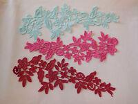 Dress making floral lace applique sewing lace motif is for sale.Various colours
