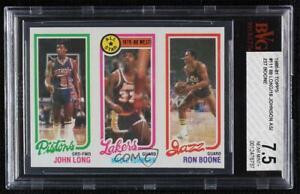 1980-81 Topps John Long Magic Johnson Ron Boone #237-18-88 BVG 7.5 Rookie RC HOF