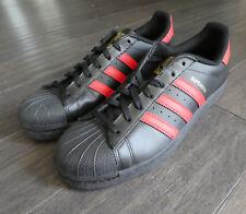 Mens adidas Originals Superstar Black Red Gold Shoes S80694 Shelltoe X1 US 10 UK 9.5 EU 44