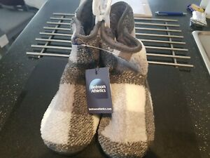 Bedroom Athletics Reynolds Mens Check Sherpa Boot Grey/White Check - M (UK 9/10)