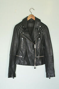 *STUNNING* AllSaints Ladies Leather CATCH Biker Jacket UK4 US0 EU32 Moto