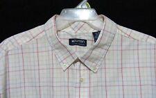 Puritan Size 3XL Casual Shirt Short Sleeve White Muli-color Plaid Sz 54/56