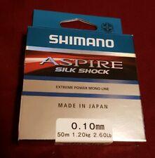 Shimano aspire silk shock. 50m, 2.60ibs/1.20Kg. 0.10mm Diameter. Brand New/boxed